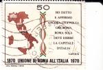 Sellos del Mundo : Europa : Italia :  Centenario de la Unión de Roma y Estados Ponticos