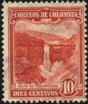 Stamps America - Colombia -  Salto de Tequendama.