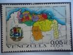 Stamps Venezuela -  Mapa de la República de Venezuela-Mapa de los  Estados - Serie:Estados de Venezuela, Mapa y Escudos