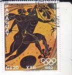 Sellos del Mundo : America : Paraguay : Atletas griegos
