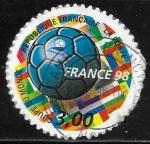 Sellos del Mundo : Europa : Francia :  Copa del Mundo Football 1998