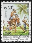 Stamps : Asia : Laos :  Artes Marciales