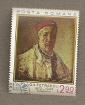 Stamps Romania -  Autoretrato de GH. Petrascu