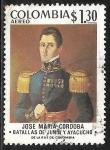 Stamps : America : Colombia :  General José M. Córdoba