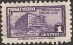 Stamps Colombia -  Sobretasa para construcción. Palacio de Comunicaciones.