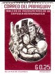 Sellos del Mundo : America : Paraguay : Tablero de instrumentos de la capsula astronáutica