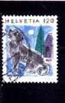 Sellos del Mundo : Europa : Suiza :  ilustración perro