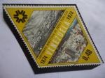 Sellos de America - Venezuela -  centenario Ministerio de Obras Públicas (1874-1974)-Vista de Caracas (!874)-Vista de Caracas (1974)