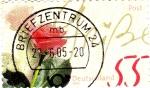 Stamps : Europe : Germany :  Flor-rosa