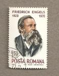 Sellos de Europa - Rumania -  Federico Engels, socialista alemán