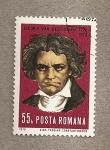 Stamps Romania -  Ludwig van Beethoven, compositor