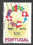 Sellos del Mundo : Europa : Portugal :  1011 - Asociación Europea del Libre Comercio