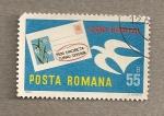Stamps Romania -  Introducción de códigos postales