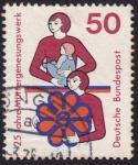 Sellos del Mundo : Europa : Alemania : 25 años organización para las madres