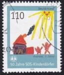 Sellos del Mundo : Europa : Alemania : 50 años aldeas infantiles