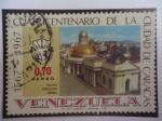 Sellos de America - Venezuela -  Cuatricentenario de la Ciudad de Caracas(1567-1967)- Palacio Legislativo Federal