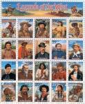 Sellos del Mundo : America : Estados_Unidos : Leyendas del oeste - Reimpresión