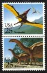 Sellos del Mundo : America : Estados_Unidos : Problema con los animales prehistóricos