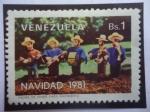 Sellos de America - Venezuela -  Navidad 1981 - Piezas de Anime (Icopor) para Armar un Nacimiento.