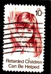 Sellos del Mundo : America : Estados_Unidos :  los niños retrasados pueden ser ayudados