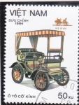 Stamps Vietnam -  Coche de epoca-
