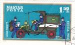 de Europa - Hungría -  Coche de epoca- correos