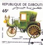 de Africa - Djibouti -  Coche de epoca- 150 aniversario Daimler