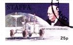 Sellos del Mundo : Europa : Reino_Unido : Vehículo lunar- ApoloXV  y Sir Winston Churchill