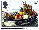 Stamps United Kingdom -  Barco pesquero