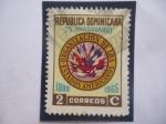 de America - Rep Dominicana -  OEA-75°Aniversario (1890-1965)-Organización de los Estados Americanos. - Emblema.