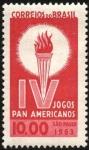 Sellos de America - Brasil -  4tos. Juegos Panamericanos São Paulo.