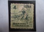de America - Cuba -  Grito de Jucaral- 4 de Julio dee 1851 - El Patrita: Joaquín de Aguero (1811-1851)
