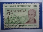 Sellos del Mundo : America : Canadá : Sr.Selkerk y el  Granjero-Red River Settlement ,1812 - La Colonie de la Riviere Rouge.1812-Asentamie