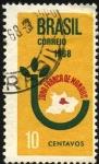 Stamps Brazil -  Mapa de la zona franca de Manaos.