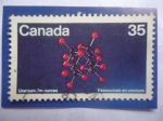 Sellos del Mundo : America : Canadá : Uranium Resources-Estructura Molécular Mineral de Uranio - Recursos de Uranio.
