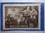 Sellos del Mundo : Europa : Hungría : Fabricación Maquinarias Agricolas-Resultados del Plan Quinquenal.