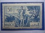 Sellos del Mundo : Africa : Marruecos : El Argán- Serie: Paisajes y Monumentos 1939.