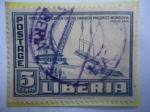 Stamps Liberia -  Puerto de Monrovia-Presidente Tubman abre proyecto de puerto Monrovia (Feb.1946)