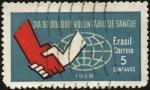 Stamps Brazil -  Día del donante voluntario de sangre.