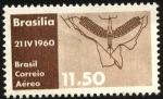 Stamps Brazil -  Inauguración Brasilia. Plano de Brasilia.