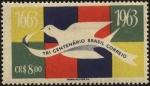Stamps Brazil -  Paloma mensajera. Tercer centenario correo de Brasil.