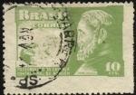 Stamps America - Brazil -  San Damián de Molokai, Padre Damián. Tasa obligatoria fundación atención de leprosos.