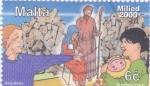 sello : Europa : Malta : Pesebre -Navidad
