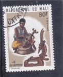 sello : Europa : Mali : Escultor