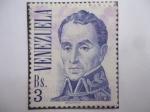 de America - Venezuela -  Simón Bolívar (1783-1830) y el pintor Santafereño, José María Espinosa(1796-1883)