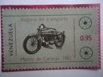 de America - Venezuela -  Historia del Transporte-Metro de Caracas 1981-Moto Cleveland 1920-Museo del Transp.Caracas.