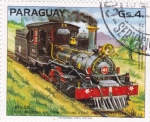sello : America : Paraguay : Locomotora