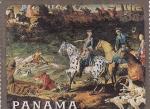 sello : America : Panamá : Cacería