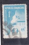 sello : America : Rep_Dominicana : Día de la educación