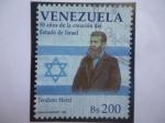 Stamps Venezuela -  Teodoro Herzl (1860-1904) -50 Años de la Creación del Estado de Israel .